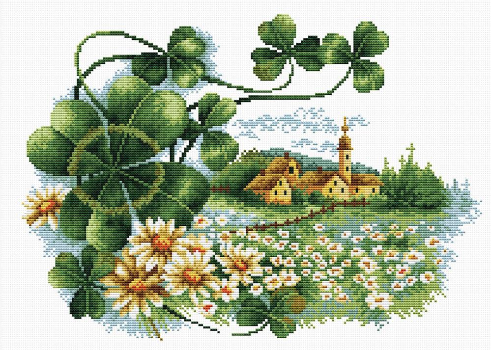 Scenery Clover -  No Count Cross Stitch Kit