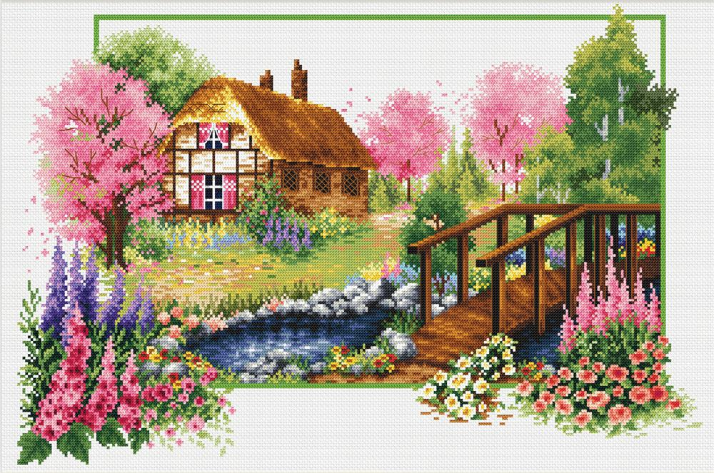 Spring Cottage -  No Count Cross Stitch Kit