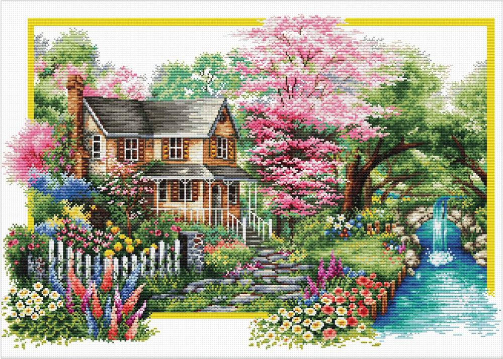 Spring Comes -  No Count Cross Stitch Kit