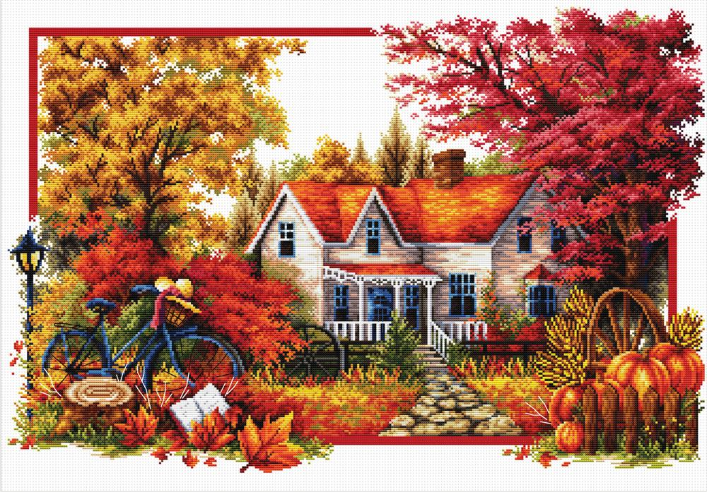Autumn Comes -  No Count Cross Stitch Kit