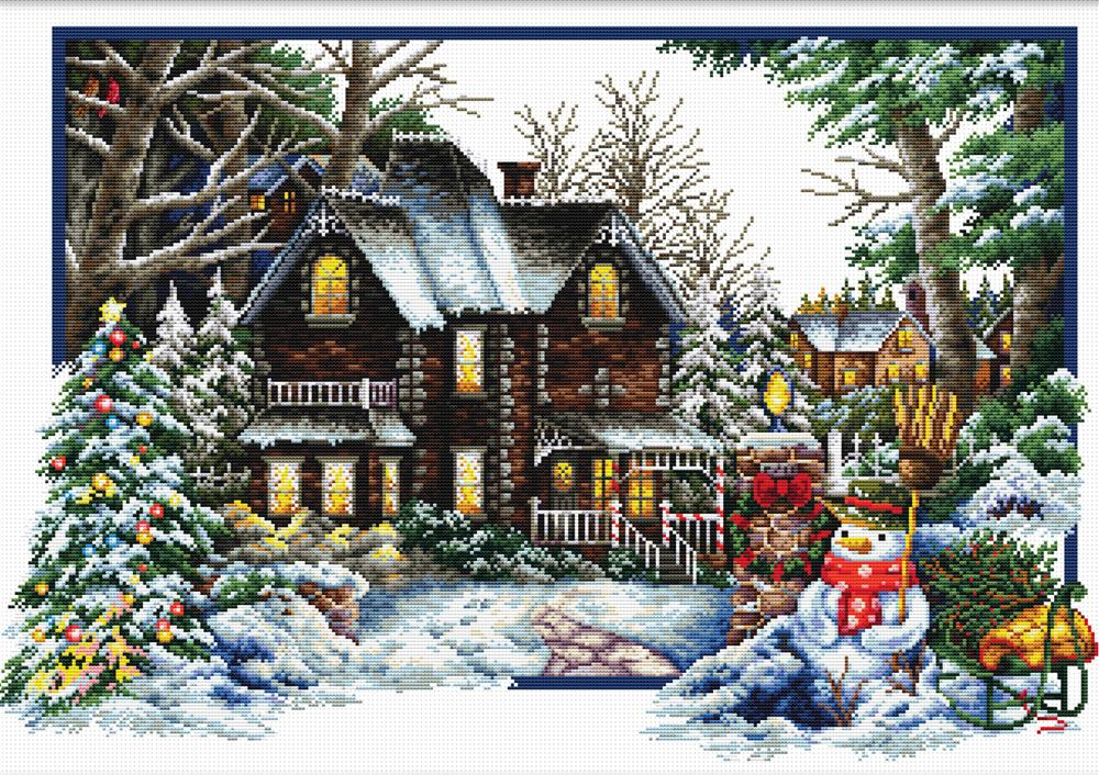 Winter Comes -  Christmas No Count Cross Stitch Kit