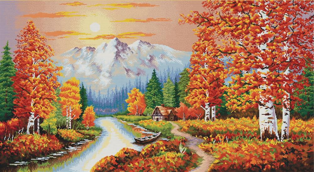 A Flaming Sunset -  No Count Cross Stitch Kit