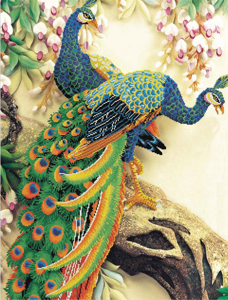 Peacock Majesty -  No Count Cross Stitch Kit