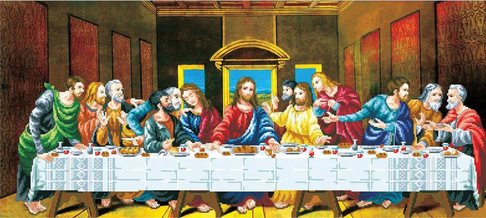 The Last Supper -  No Count Cross Stitch Kit