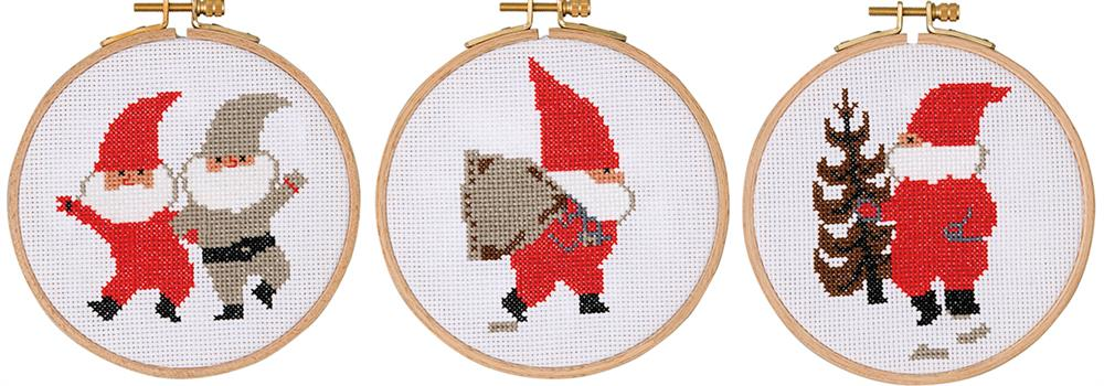 Tomte, Sack, Tree  -  Christmas Cross Stitch Kit