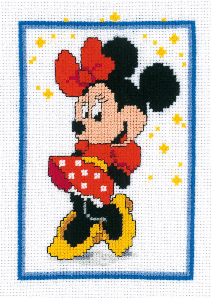 Vervaco Minnie Mouse Cross Stitch Kit