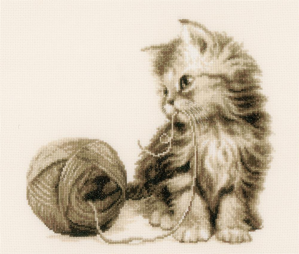 Vervaco Kitten and Wool Cross Stitch Kit