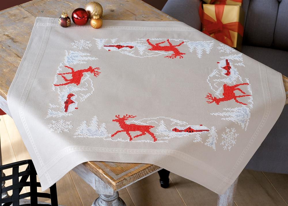 Vervaco Norweigan Winter Tablecloth Cross Stitch Kit