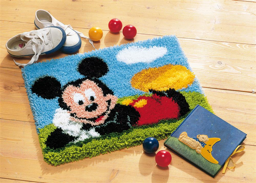 Vervaco Mickey Rug Latch Hook Rug Kit