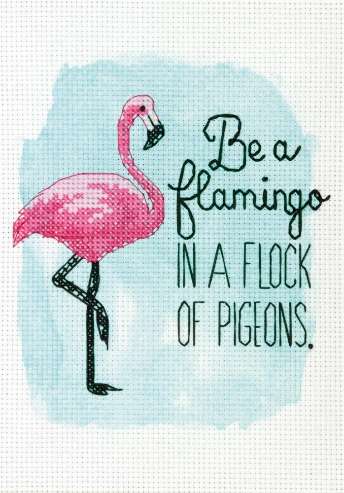 Dimensions Be a Flamingo Cross Stitch Kit