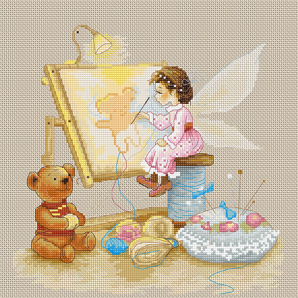 Luca-S Stitching Fairy Cross Stitch Kit