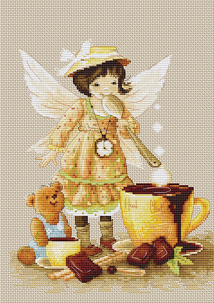 Luca-S Chocolate Fairy Cross Stitch Kit