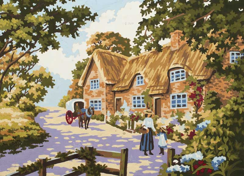 Spring Cottage -  Tapestry Canvas