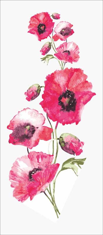 Grafitec Wild Poppies Tapestry Canvas