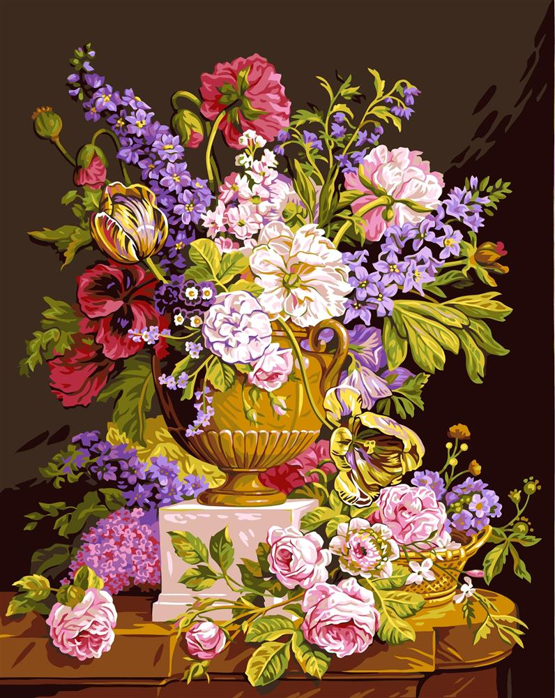 Bouquet Ancien -  Tapestry Canvas