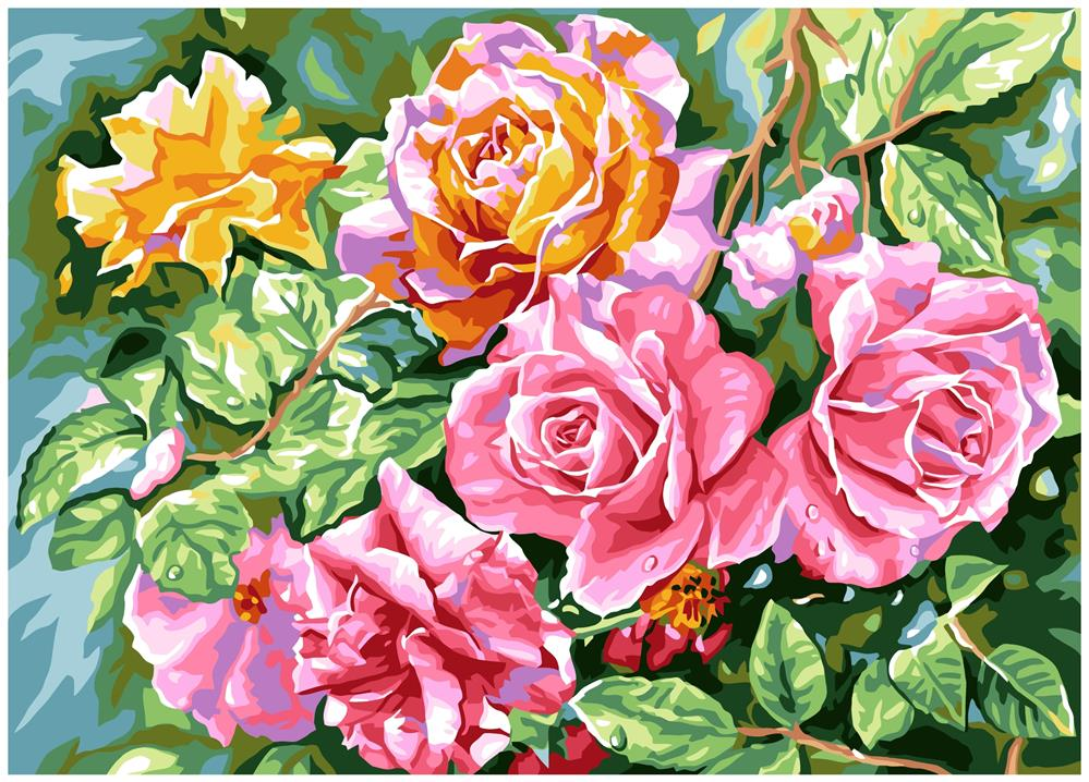 Radiant Roses -  Tapestry Canvas