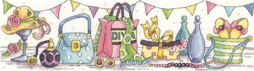 Heritage Retail Therapy - Evenweave Cross Stitch Kit