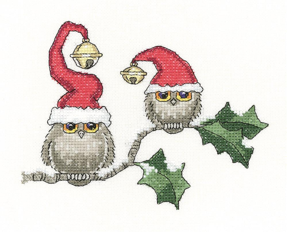 Heritage Ollie and Ivy - Evenweave Christmas Cross Stitch Kit