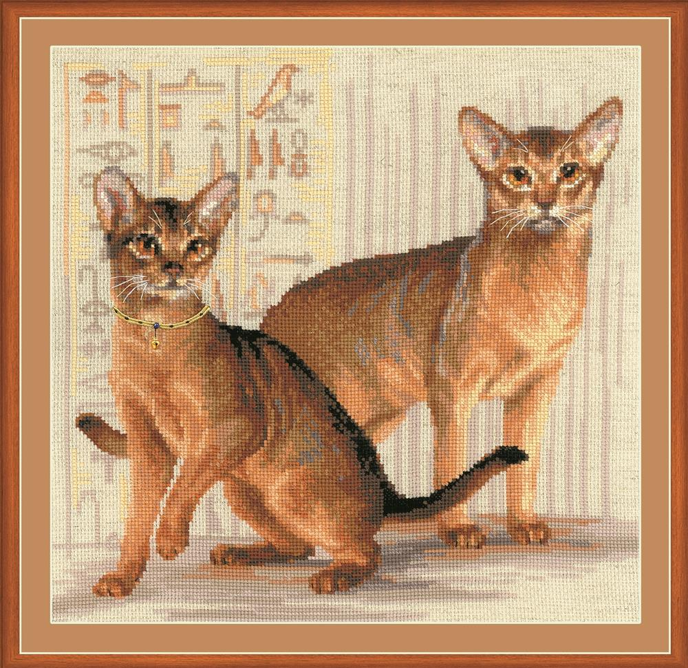 RIOLIS Abyssinian Cats Cross Stitch Kit
