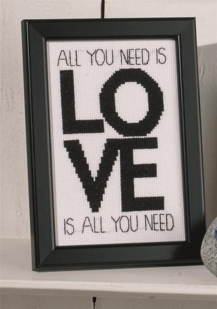 Permin Love is All You Need Wedding Sampler Cross Stitch Kit