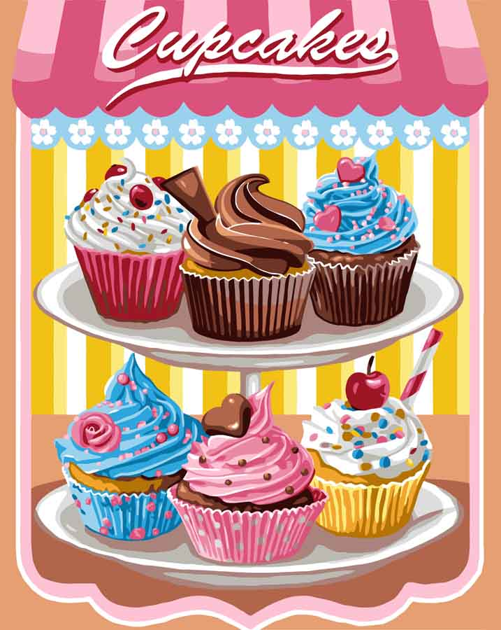 Cupcakes -  Tapestry Canvas