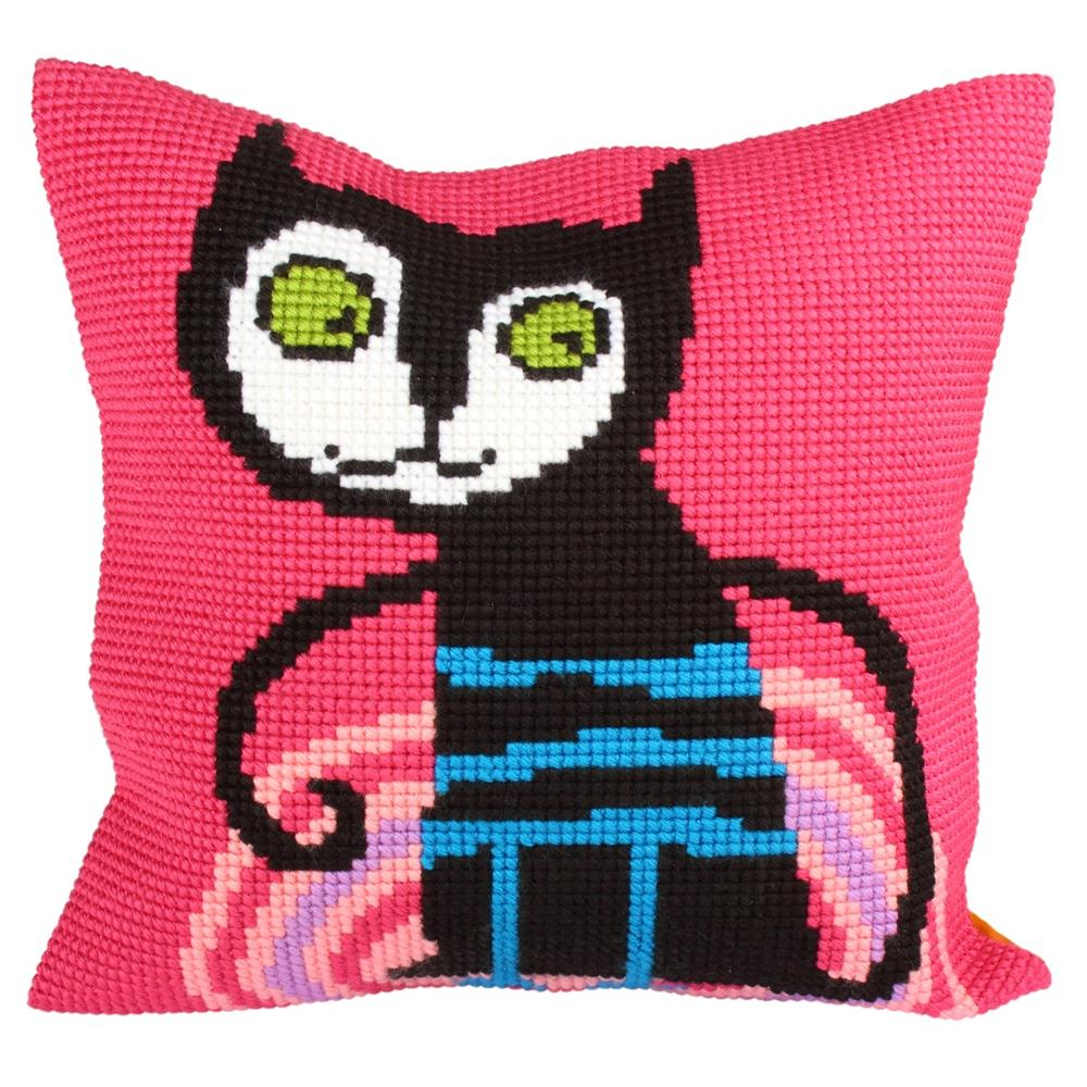 Collection D'Art Kitty Pink Cross Stitch