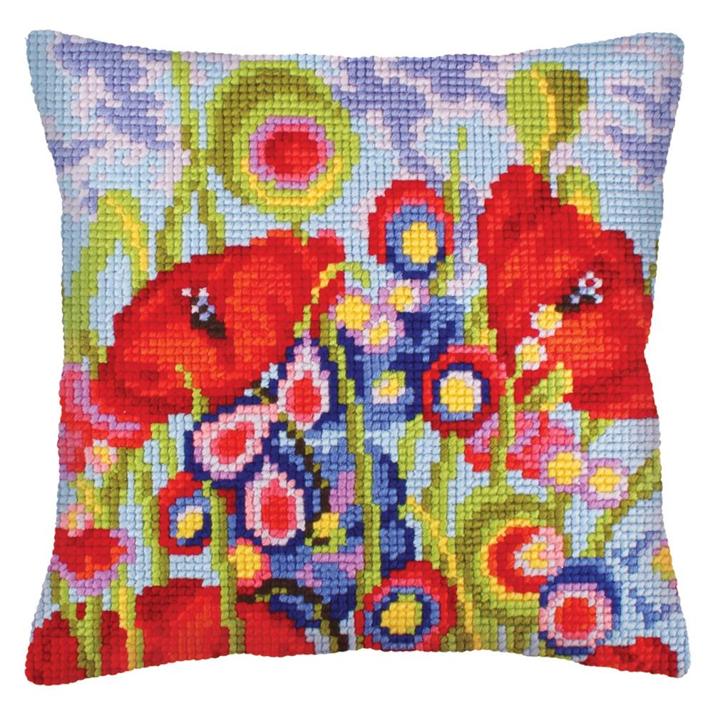 Collection D'Art Red Poppies II Cross Stitch Kit