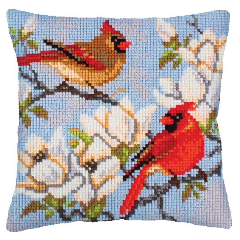 Collection D'Art On a Branch of Magnolia Cross Stitch Kit