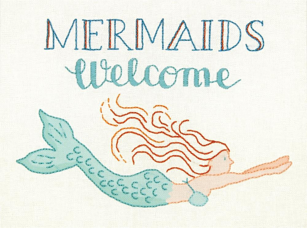 Mermaids Welcome -  Embroidery Kit