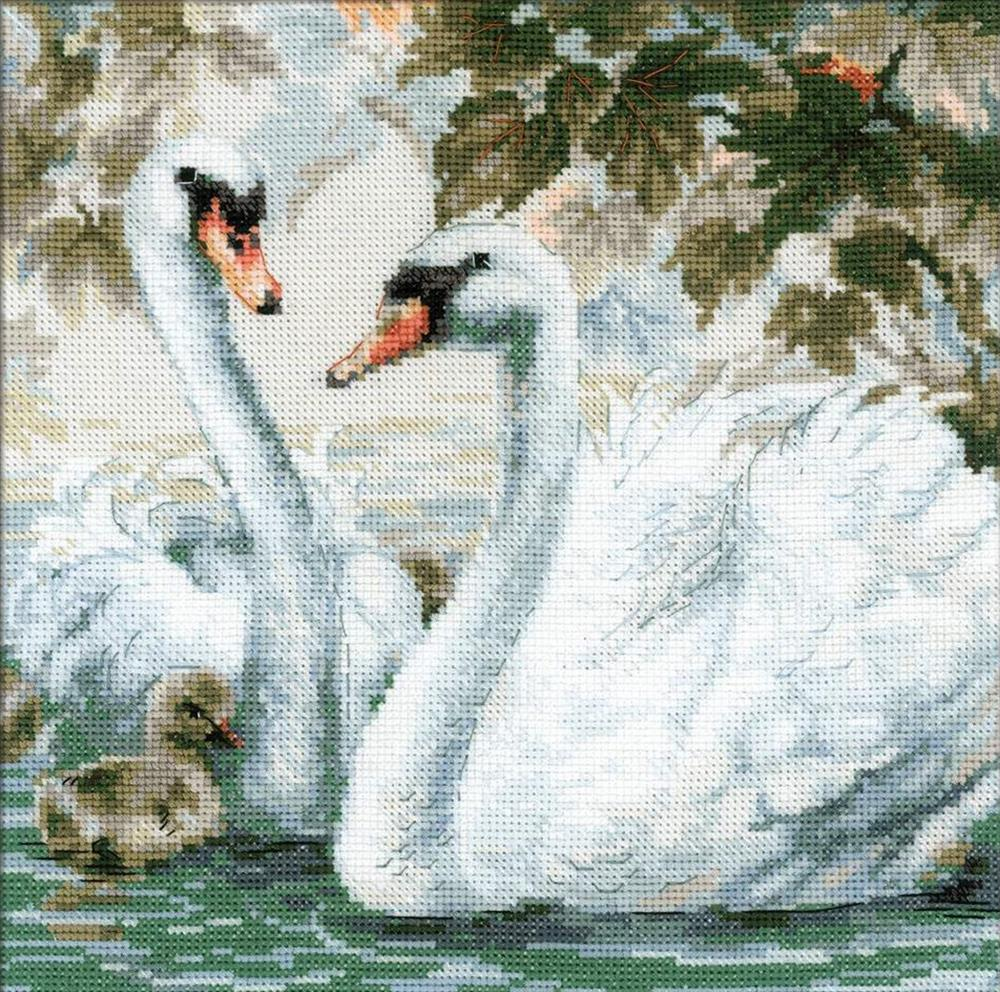RIOLIS White Swans Cross Stitch Kit