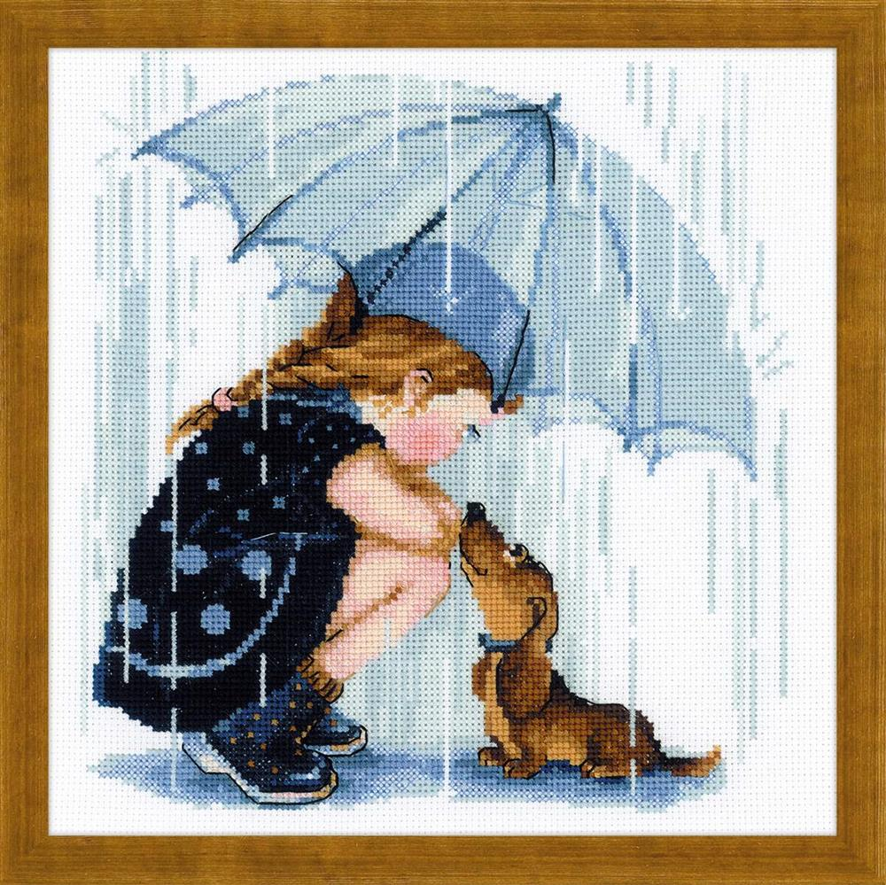 RIOLIS Under my Umbrella Cross Stitch Kit