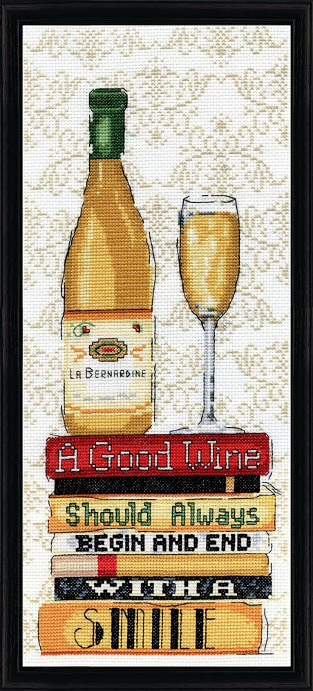 Design Works Crafts White Wine Cross Stitch Kit
