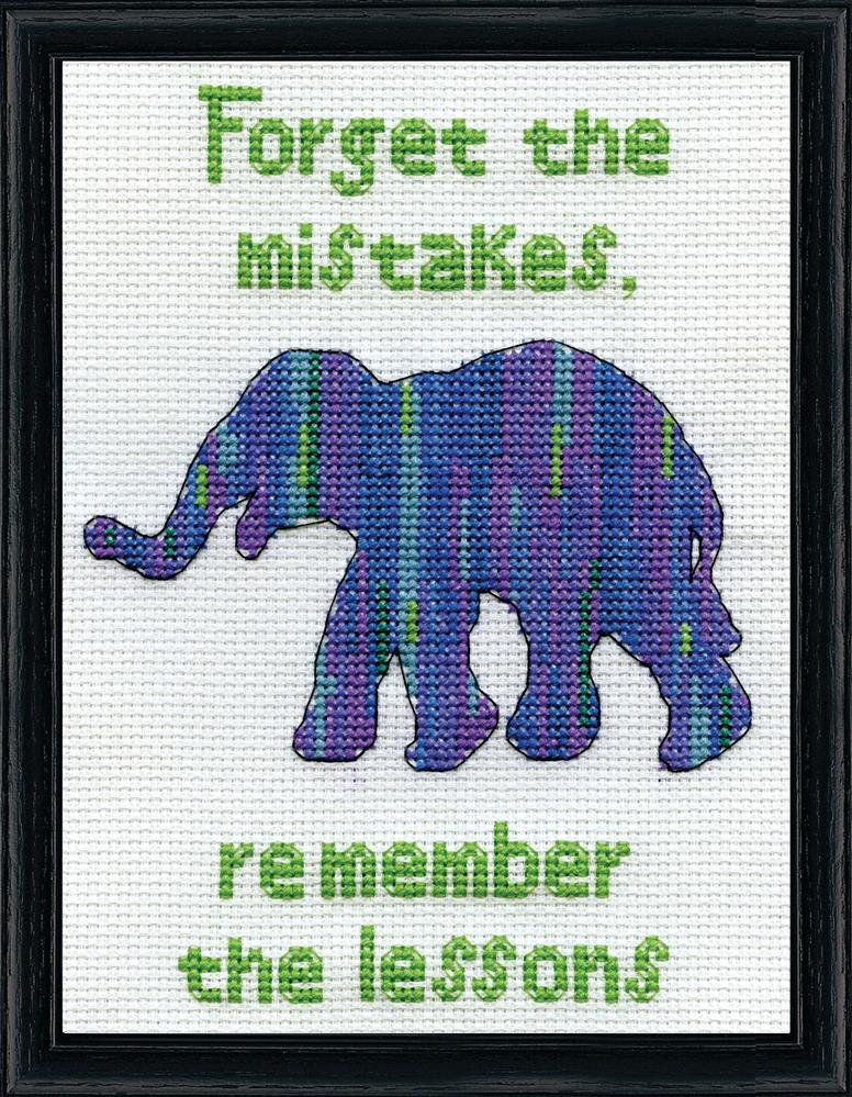 Forget the Mistakes -  Cross Stitch Kit