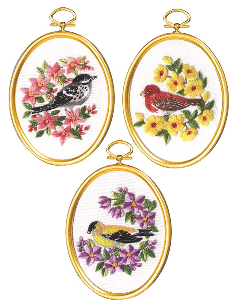 Warblers & Finches -  Embroidery Kit