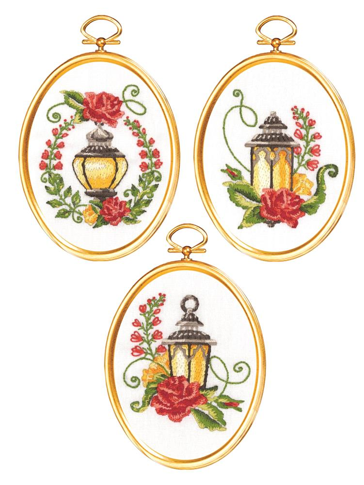 Floral Lanterns -  Embroidery Kit