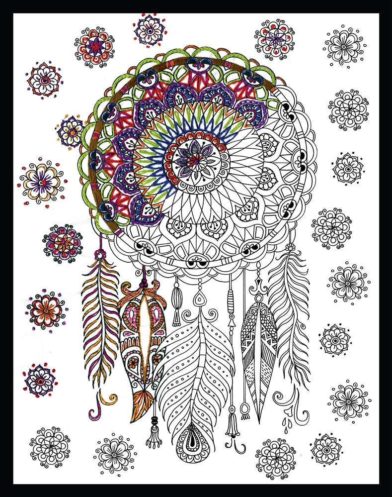 Design Works Crafts Zenbroidery - Trendy Dreamcatcher Embroidery Fabric