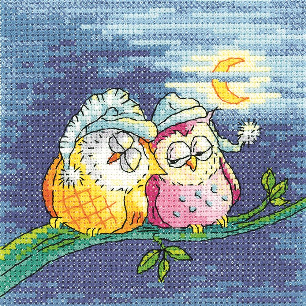 Heritage Night Owls - Aida Cross Stitch Kit