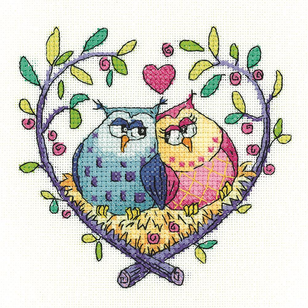 Love Owls - Evenweave -  Cross Stitch Kit