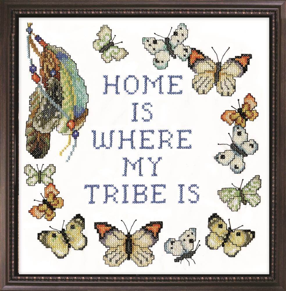 Design Works Crafts Home Tribe Cross Stitch Kit
