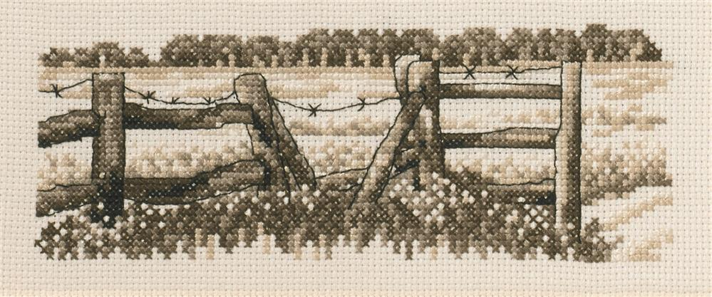 Permin Fence Cross Stitch Kit