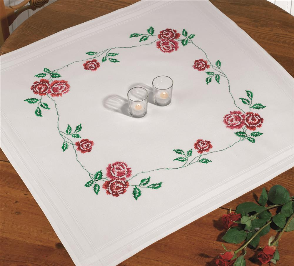 Roses Tablecloth -  Cross Stitch Kit