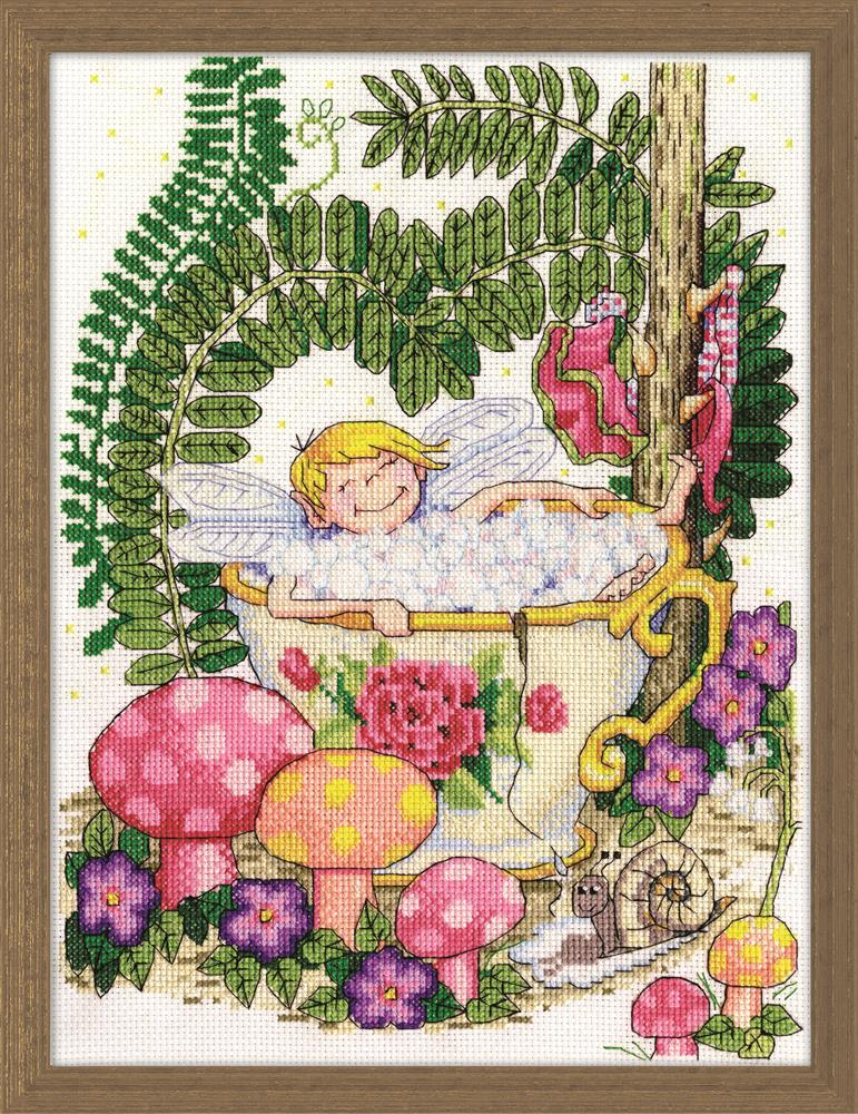 Teacup Fairy -  Cross Stitch Kit