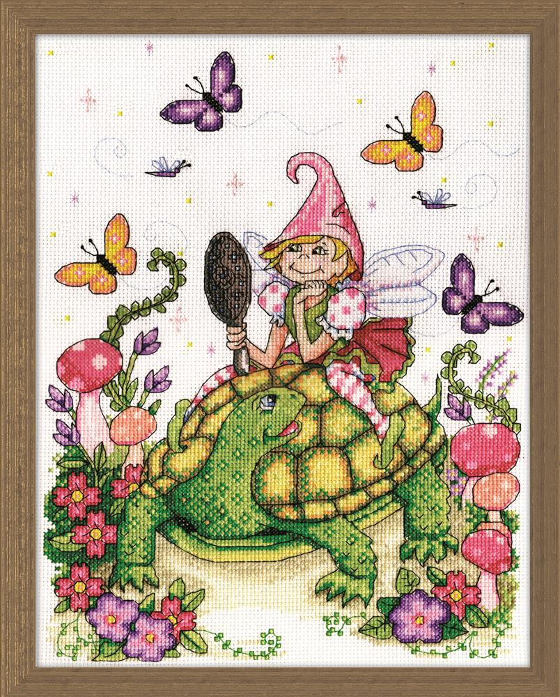 Turtle & Fairy -  Cross Stitch Kit