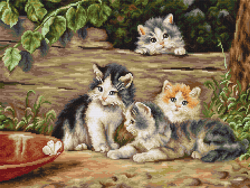 Luca-S The Cats - Petit Point Tapestry Kit