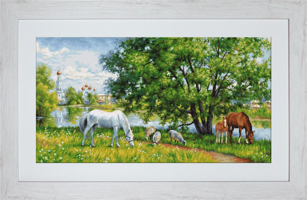 Luca-S Pastoral Scene - Petit Point Tapestry Kit