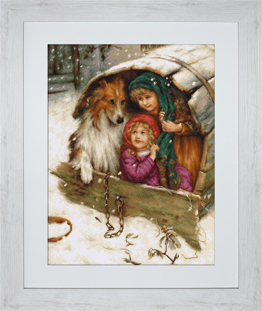Winter Collie - Petit Point -  Tapestry Kit