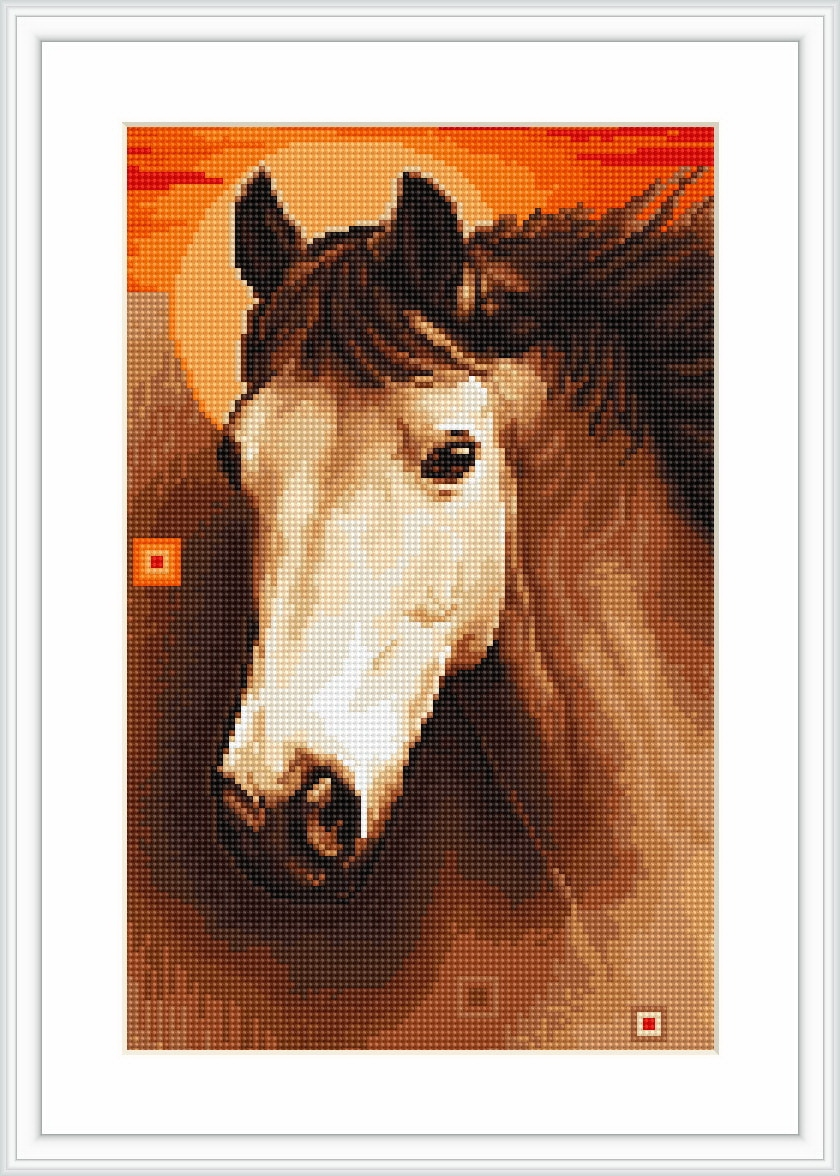 Horse - Petit Point -  Tapestry Kit