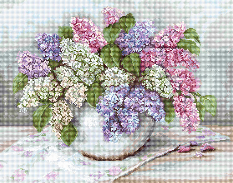 Lilacs - Petit Point -  Tapestry Kit