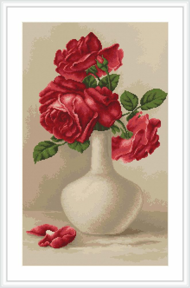 Red Roses - Petit Point -  Tapestry Kit