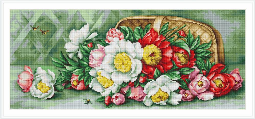 Basket with Pansies - Petit Point -  Tapestry Kit
